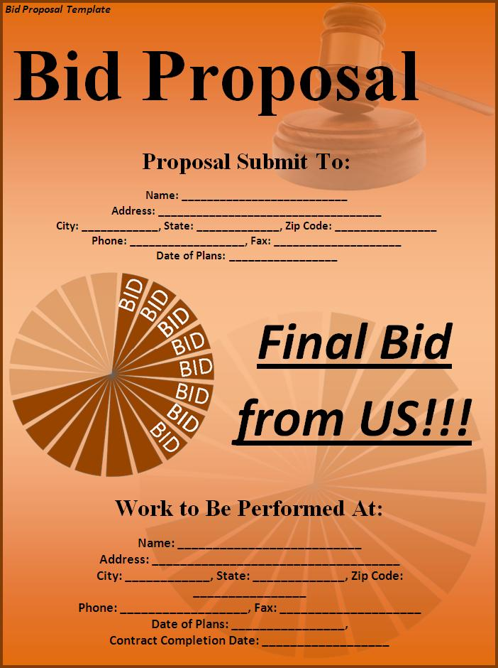 subcontractor proposal template