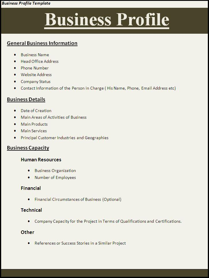 company profile template word – Format of Company Profile