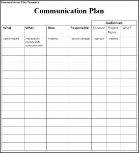 Communication Plan Communication Plan Ms Project