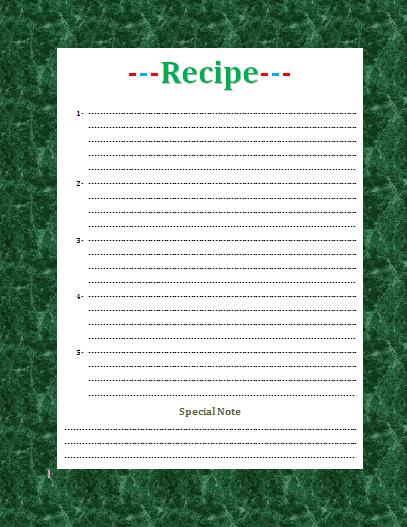 Templte Recipe Pictures to Pin PinsDaddy – Recipe Card Templates for Word